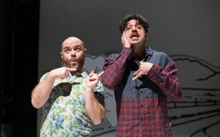 Γέλιο και συγκίνηση προκαλούν οι Μάκης Παπαδημητρίου και Γιώργος Χρυσοστόμου στην παράσταση της Μαρί Τζόουνς.