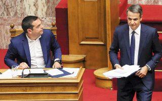 Ο κ. Τσίπρας κάλεσε τον κ. Μητσοτάκη «είτε να μην ψηφίσει τα μέτρα είτε να αποσύρει τη στήριξη στον Μ. Βέμπερ.