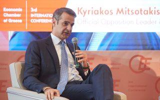 Ο Κυριάκος Μητσοτάκης μίλησε χθες στο 3ο Διεθνές Συνέδριο του Οικονομικού Επιμελητηρίου.