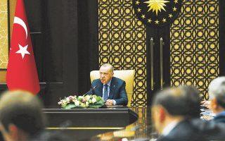 Ο Τούρκος πρόεδρος Ρετζέπ Ταγίπ Ερντογάν έκανε λόγο για στρατιωτική δράση ακόμη και «πέρα από τα σύνορα» της γειτονικής χώρας.
