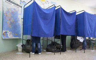 Κόσμος ψηφίζει μέσα σε παραβάν σε εκλογικό  κέντρο  της Θεσσαλονίκης κατά τη διάρκεια των Δημοτικών και Περιφερειακών Εκλογών 2014. Κυριακή 18 Μαΐου 2014. Στις 7 το πρωί άνοιξαν οι κάλπες για τις Δημοτικές και Περιφερειακές εκλογές της χώρας οι οποίες θα παραμείνουν ανοιχτές μέχρι τις 7 το απόγευμα,  με τη συμμετοχή 1.441 δημοτικών και 105 περιφερειακών συνδυασμών.  ΑΠΕ ΜΠΕ/PIXEL/ΜΠΑΡΜΠΑΡΟΥΣΗΣ ΣΩΤΗΡΗΣ
