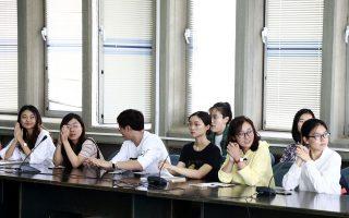 Κινέζοι φοιτητές είχαν πραγματοποιήσει ένα χρόνο των σπουδών τους στην ελληνική γλώσσα στη Φιλοσοφική Σχολή Αθηνών, το ακαδημαϊκό έτος 2017-2018.