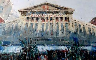 «Μοδιάνο. Ζωγραφιά ανεξίτηλη στη μνήμη». Εκθεση του Φώτη Κλογέρη στις Βιτρίνες Τέχνης του ΟΤΕ, στο κέντρο της Θεσσαλονίκης. Ερμού 40 και Καρόλου Ντηλ. Εως 31 Μαΐου.