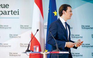 Μόνος επί σκηνής. Ο συντηρητικός Αυστριακός καγκελάριος Σεμπάστιαν Κουρτς απέπεμψε χθες τους εναπομείναντες υπουργούς του ακροδεξιού FPOe, βάζοντας τέρμα στο 17μηνο πείραμα συγκυβέρνησης Δεξιάς - Ακροδεξιάς. Μετά το βίντεο με τις βρώμικες συναλλαγές που «έκαψε» τον επικεφαλής του FPOe, Χάιντς-Κρίστιαν Στράχε, οι χρηματοδοτήσεις του κόμματος θα τεθούν στο μικροσκόπιο των διωκτικών αρχών.