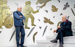 Αλέκος Φασιανός και Βαγγέλης Χρόνης, ο ζωγράφος και ο ποιητής συνδιαλέγονται καλλιτεχνικά σε μια παράλληλη έκθεση.