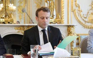 Ο Γάλλος πρόεδρος, κατά τις χθεσινές «πράσινες» ανακοινώσεις του.