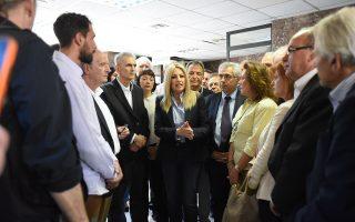 Η Φώφη Γεννηματά επισκέφθηκε, χθες, το ΙΚΑ Περιστερίου.