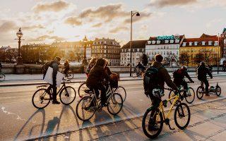 Βόλτα στο ποτάμι με ποδήλατα. (Φωτογραφία: Copenhagen Mediacenter/Martin Heiberg)