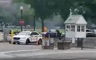 A man is seen engulfed in flames after he set himself on fire on the Ellipse near the White House in  Washington, U.S., May 29, 2019 in this still image obtained from social media video. KRISJAN BERZINS /via REUTERS THIS IMAGE HAS BEEN SUPPLIED BY A THIRD PARTY. MANDATORY CREDIT. NO RESALES. NO ARCHIVES.
