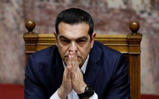 Greek Prime Minister Alexis Tsipras looks on during a parliamentary session before a confidence vote in Athens, Greece, January 16, 2019. REUTERS/Alkis Konstantinidis