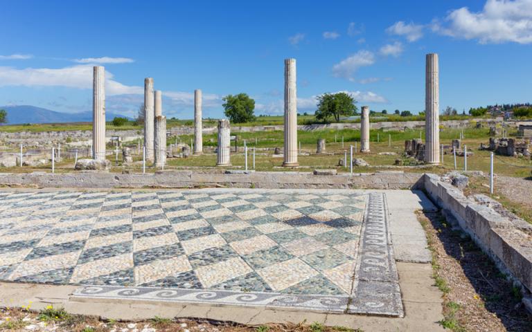 Αναστηλώνεται τμήμα του ανακτόρου της Αρχαίας Πέλλας όπου γεννήθηκε ο Μέγας Αλέξανδρος