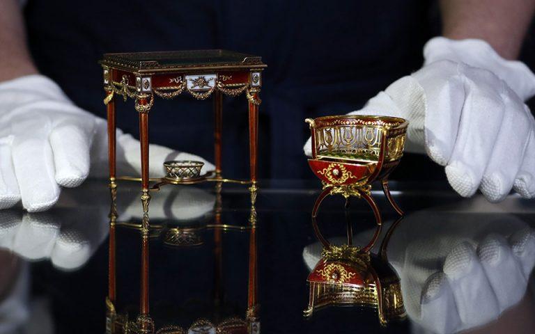 Σπάνια και πανάκριβα Faberge σε δημοπρασία (φωτογραφίες)