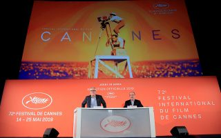 Cannes Film festival general delegate Thierry Fremaux and Cannes Film festival president Pierre Lescure attend a news conference to announce the official selection for the 72nd Cannes International Film Festival in Paris, France, April 18, 2019. REUTERS/Gonzalo Fuentes