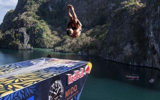 Στιγμιότυπο από τον πρώτο αγώνα της σεζόν, στο μαγευτικό El Nido του Palawan στις Φιλιππίνες.