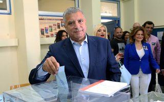 Ο Γιώργος Πατούλης υποψήφιος Περιφερειάρχης Αττικής ψηφίζει στο 3ο Γυμνάσιο Αμαρουσίου στο εκλογικό τμήμα 1081  Κυριακή 26 Μαΐου 2019. Διεξάγεται σήμερα σε όλη την χώρα η ψηφοφορία για την ανάδειξη Ευρωβουλευτών, Περιφερειακών και Δημοτικών αντιπροσώπων ΑΠΕ-ΜΠΕ/ΑΠΕ-ΜΠΕ/STR