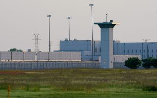 The sun sets on the Federal Corrections Complex where tomorrow John Walker Lindh, known as the