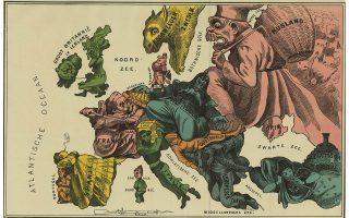 Νέος χάρτης της Ευρώπης, 1870. Ο καλλιτέχνης έχει «ξεχάσει» την Ελλάδα, που μετρούσε ήδη 40 χρόνια κρατικής υπόστασης, και στη θέση της απεικονίζει την... ευρωπαϊκή Τουρκία.