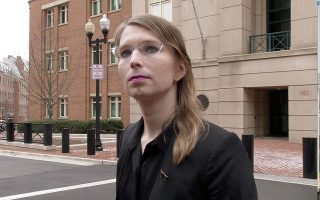 FILE PHOTO: Former U.S. Army intelligence analyst Chelsea Manning speaks to reporters outside the U.S. federal courthouse shortly before appearing before a federal judge and being taken into custody as he held her in contempt of court for refusing to testify before a federal grand jury in Alexandria, Virginia, U.S. March 8, 2019.  MANDATORY CREDIT: REUTERS/Ford Fischer/News2Share/File Photo