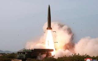 FILE PHOTO: North Korean military conducts a