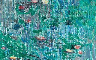 Στρώσεις χρώματος, χρήση σπάτουλας, ροές και δάκρυα, γεωμετρημένος κάνναβος, οριζόντια και κάθετα στοιχεία, έκκεντρες πυκνώσεις ή συστάδες χρώματος και ύλης ορίζουν τα νέα έργα του Μιχάλη Μαδένη.