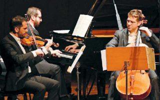 Στο πλαίσιο του Ετους Σκαλκώτα, το Τρίο Ελ Γκρέκο ερμήνευσε τις «Οκτώ παραλλαγές» του Ελληνα συνθέτη. ΜΑΝΟΣ ΜΑΝΙΟΣ