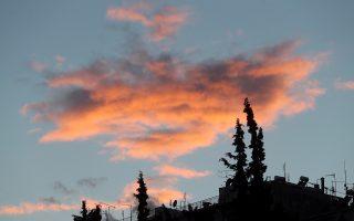 Ο ηλιος που δύει χρωματίζει εντυπωσιακά τα σύννεφα πάνω από την Αθήνα Δεκεμβρίου 2018. ΑΠΕ-ΜΠΕ/ΑΠΕ-ΜΠΕ/Παντελής Σαίτας