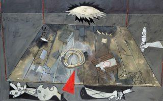 Πενήντα έργα του Κυριάκου Κατζουράκη παρουσιάζονται στο Μορφωτικό Ιδρυμα Εθνικής Τραπέζης, στο Μέγαρο Εϋνάρδου (Αγ. Κωνσταντίνου 20).