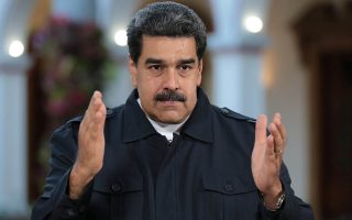 Venezuela's President Nicolas Maduro speaks during a broadcast at Miraflores Palace in Caracas, Venezuela January 29, 2019. Picture taken January 29, 2019. Miraflores Palace/Handout via REUTERS ATTENTION EDITORS - THIS PICTURE WAS PROVIDED BY A THIRD PARTY.