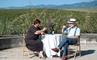 Όλγα Ιακωβίδου και Βαγγέλης Χατζηβαρύτης: το αμπέλι και το κρασί ήταν και παραμένει η μεγάλη τους αγάπη. (Φωτογραφία: Αλέξανδρος Αβραμίδης)