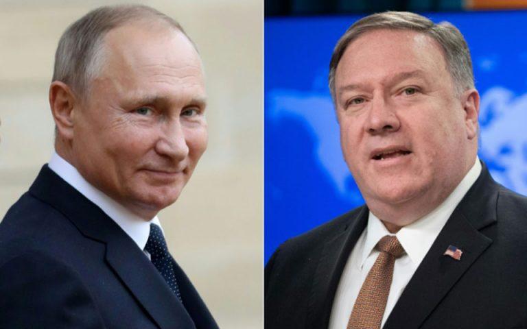 Μόσχα: Συνάντηση Πούτιν – Πομπέο με στόχο τη «σταθεροποίηση» των διμερών σχέσεων