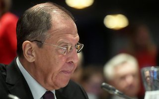 Russia's Minister of Foreign Affairs Sergei Lavrov attends The Ministers for Foreign Affairs of the Council of Europe's annual meeting in Helsinki, Finland May 17, 2019. Lehtikuva/Vesa Moilanen via REUTERS      ATTENTION EDITORS - THIS IMAGE WAS PROVIDED BY A THIRD PARTY. NO THIRD PARTY SALES. NOT FOR USE BY REUTERS THIRD PARTY DISTRIBUTORS. FINLAND OUT. NO COMMERCIAL OR EDITORIAL SALES IN FINLAND.