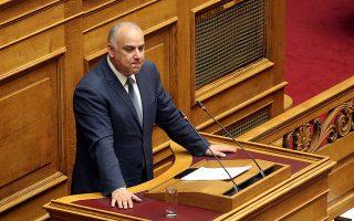 Ο βουλευτής της Ένωσης Κεντρώων Γιάννης Σαρίδης  μιλά στη συζήτηση στην Ολομέλεια της Βουλής με θέμα: Κύρωση της Τελικής Συμφωνίας για την Επίλυση των Διαφορών οι οποίες περιγράφονται στις Αποφάσεις του Συμβουλίου Ασφαλείας των Ηνωμένων Εθνών 817 (1993) και 845 (1993), τη Λήξη της Ενδιάμεσης Συμφωνίας του 1995 και την Εδραίωση Στρατηγικής Εταιρικής Σχέσης μεταξύ των Μερώv, Τετάρτη 23 Ιανουαρίου 2019. ΑΠΕ-ΜΠΕ/ΑΠΕ-ΜΠΕ/Αλέξανδρος Μπελτές
