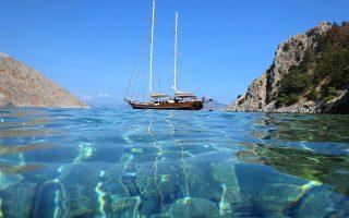 Τα σμαραγδένια νερά στην παραλία του Άη Γιώργη Δυσάλωνα. (Φωτογραφία: Shutterstock)