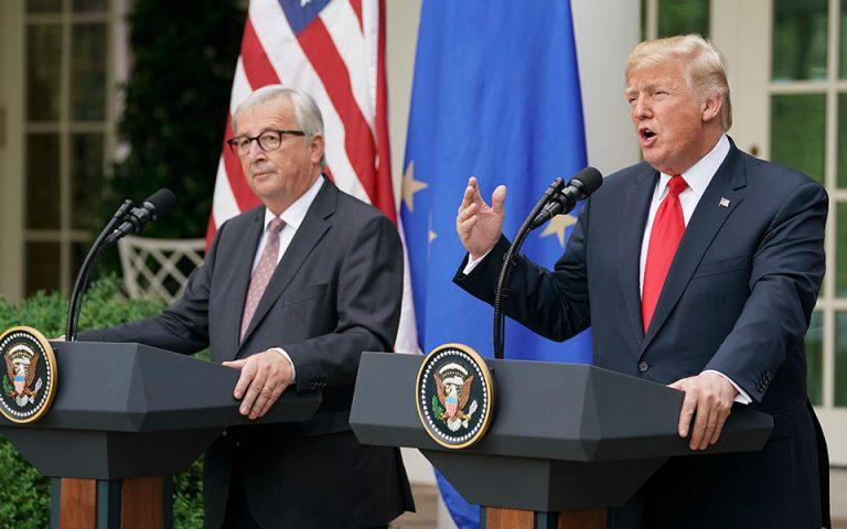 «Ανακωχή» Ευρώπης – ΗΠΑ για τους δασμούς στα αυτοκίνητα