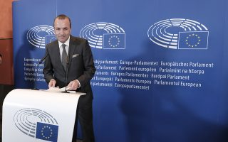 epa06998355 Manfred Weber, the leader of the European People's Party, EPP, in the European Parliament gives a press conference in Brussels, Belgium, 05 September 2018. Manfred Weber, announced he is standing to be the center-right grouping's lead candidate in next year's European election and be the group's candidate for European Commission President.  EPA/OLIVIER HOSLET