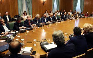 Επί τέσσερις και πλέον ώρες συνεδρίασε χθες το υπουργικό συμβούλιο.