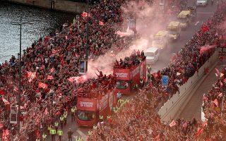 Περισσότεροι από 500.000 οπαδοί της Λίβερπουλ υποδέχθηκαν την πρωταθλήτρια Ευρώπης σε ένα πάρτι που ξεπέρασε τις τέσσερις ώρες.