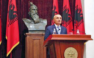 Ο Αλβανός πρόεδρος Ιλίρ Μέτα παρουσίασε χθες, στη διάρκεια συνέντευξης Τύπου, το διάταγμα για την ακύρωση των τοπικών εκλογών, στο όνομα της αποτροπής κοινωνικής έντασης.