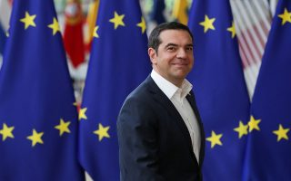 Greek Prime Minister Alexis Tsipras arrives for the European Union leaders summit in Brussels, Belgium, June 20, 2019. REUTERS/Yves Herman