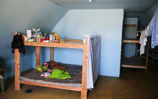 Μωρό κοιμάται σε ξενώνα μεταναστών φιλανθρωπικής οργάνωσης στην Τιχουάνα του Μεξικού.