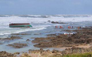 Φωτογραφία του σωστικού σκάφους (Twitter @le_Parisien)