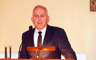 (Ξένη Δημοσίευση) Ο υπουργός Εθνικής Άμυνας Ευάγγελος Αποστολάκης μιλάει, σε εκδήλωση κοπής πρωτοχρονιάτικης πίτας της Ενώσεως Αποστράτων Αξιωματικών Αεροπορίας που πραγματοποιήθηκε στη Λέσχη Αξιωματικών Ενόπλων Δυνάμεων (ΛΑΕΔ), στην Αθήνα, την Πέμπτη 7 Φεβρουαρίου 2019. ΑΠΕ-ΜΠΕ/ΓΡΑΦΕΙΟ ΤΥΠΟΥ ΥΠΕΘΑ/STR