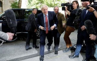 Boris Johnson, leadership candidate for Britain's Conservative Prime Minister, arrives for a hustings event in London, Britain, June 21, 2019. REUTERS/Peter Nicholls