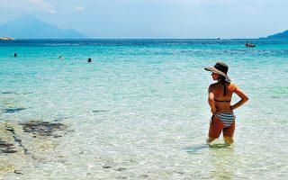 Στο νησάκι Διάπορος, απέναντι από τη Βουρβουρού. (Φωτογραφία: ΝΙΚΟΣ ΚΟΚΚΑΣ)