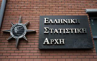 Το λογότυπο της Ελληνικής Στατιστικής Αρχής διακρίνεται στην είσοδο των κεντρικών γραφείων της ΕΛΣΤΑΤ, Αθήνα, Παρασκευή 21 Απριλίου 2017. ΑΠΕ-ΜΠΕ/ΑΠΕ-ΜΠΕ/ΣΥΜΕΛΑ ΠΑΝΤΖΑΡΤΖΗ