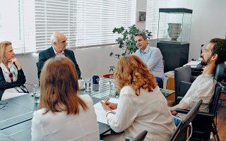 Ο Κυριάκος Μητσοτάκης συναντήθηκε χθες με τους νεοεκλεγέντες ευρωβουλευτές της Νέας Δημοκρατίας.