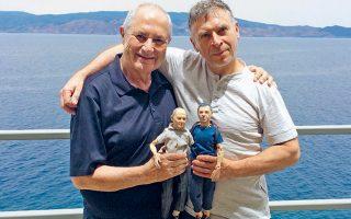 Ο Δάκης Ιωάννου με τον γλύπτη Πάβελ Αλτχάμερ.