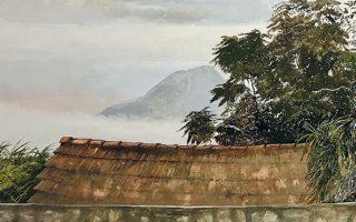 Στην έκθεση κυριαρχούν έργα του ζωγράφου που εύκολα θα ενέτασσε κανείς στην κατηγορία της τοπιογραφίας.