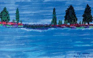Οι ζωγραφιές της Μαρίας. Εννέα ετών μπήκε σ' ένα καφενείο, είδε στον τοίχο έναν πίνακα και από τότε δεν έχει σταματήσει στιγμή να ζωγραφίζει.