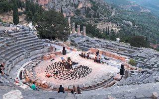 Το αρχαίο θέατρο των Δελφών είναι ένα από τα αναστηλωτικά έργα του «Διαζώματος» σε εξέλιξη.